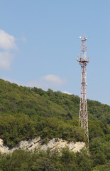 Tv tower in the mountains.