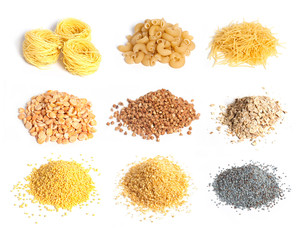 Cereal, macaroni and seeds collection