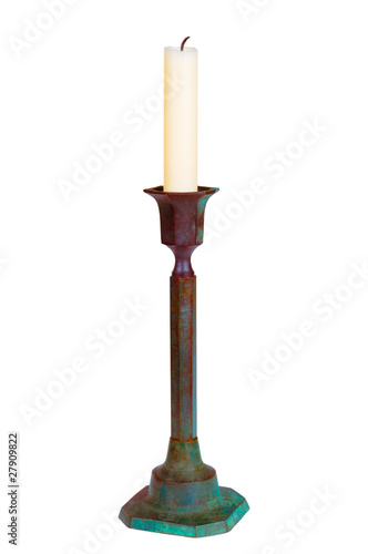 Candle in the old candlestick