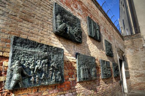 Fotobehang Venice Jewish Memorial, Venice Ghetto, Italy.