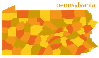 pennsylvania vector map