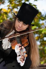Deep violinist gaze