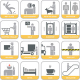 Fototapety Set of vector icons