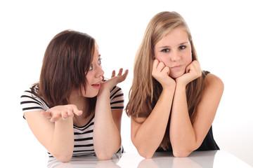 Mädels beim diskutieren