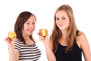 Mädels mit Äpfel