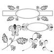 Vintage design floral elements set