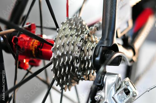 Leinwandbild Motiv rear cycling cassette with chain