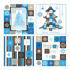 Christmas greeting cards - compilation of four cards