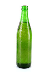 Bottle on beer isolated on white