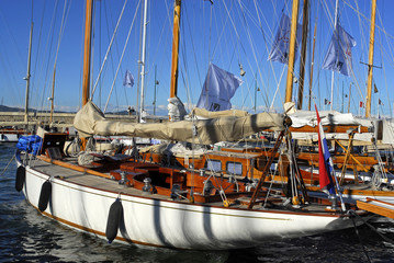 Classic Yacht in Saint Tropez, France