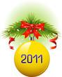 Yellow Christmas ball 2011