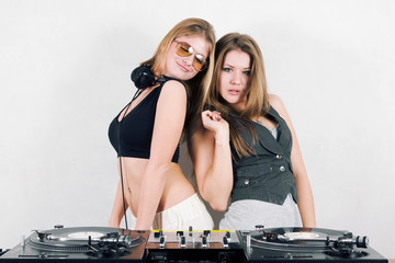 Two beautiful female djs