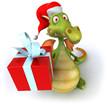 Dragon et cadeau
