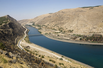 Turkey - Euphrates River at Ataturk Dam - Anatolia