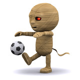 3d Mummy curses at the football