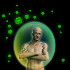 man with strong immune system