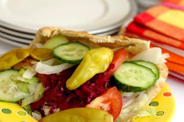 Vegetarian Pitta Kebab