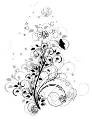 arabesque papillon gris et noir