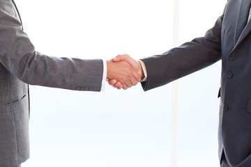 close up of businessmen shaking their hands after a meeting