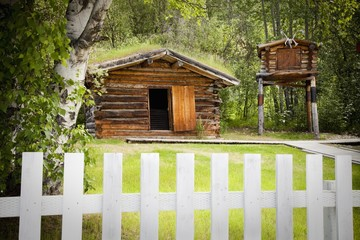 homestead of jack london; dawson city, yukon territory, canada