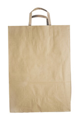 Shopping bag made from recycled paper.