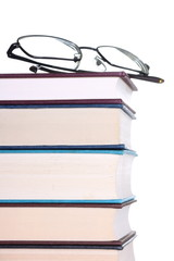 Book Stack and Reading Glasses