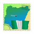 Abuja - capital of Nigeria. Vector stamp