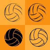 Fototapety Volleyball Ball Set 2