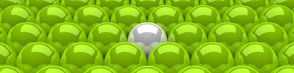 3D Kugeln Grün Weiß 05