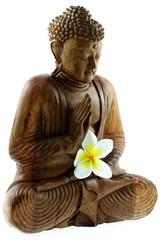 statuette bois de bouddha
