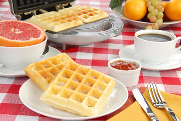 Buttered waffles