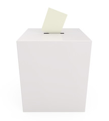 Ballot box isolated on white