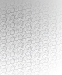 Luxury Light Silver Ornate Background Illustration