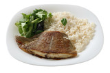 fried flounder with rice poster