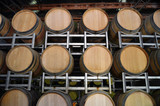 Wine barrels in storage at a winery in the Adelaide Hills poster