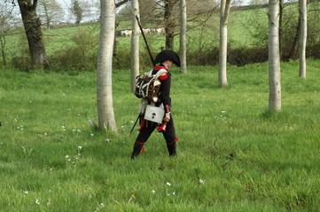 soldat de napoleon dans les marais