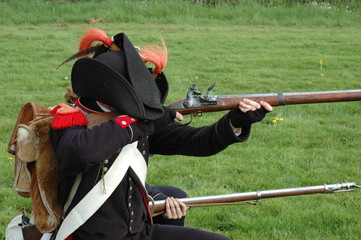soldat de napoleon au tir au fusil