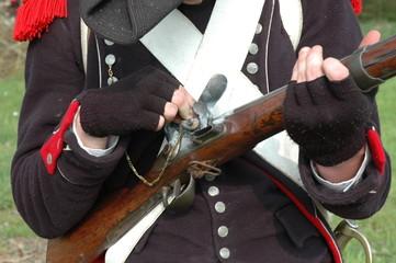 soldat de napoleon a l entrainement