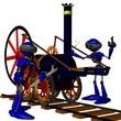 Roboter  bei der Lokmontage