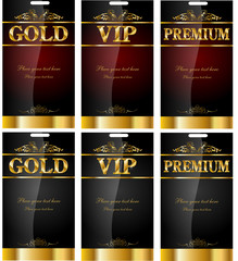 Gold, vip, premium