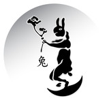 Chinese lunar rabbit with immortal herbs