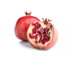 Juicy opened pomegranate