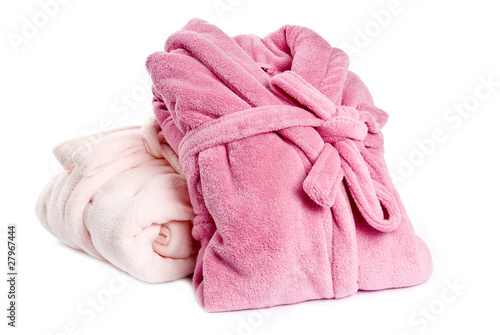 Two Pink Bathrobes