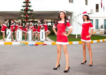 Ten beautiful Santas