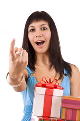 Woman with some presents