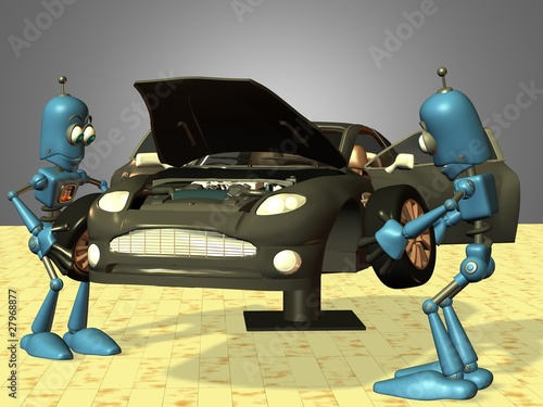 Roboter in der Fahrzeugmontage