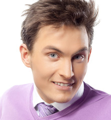 man portrait with scissors