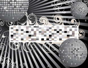 Disco ball background with place for your text