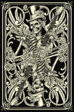 Fototapety Classic Skeleton Playing Card