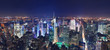 Manhattan panorama at night